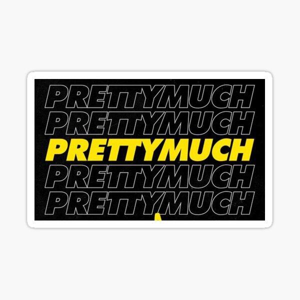 PRETTYMUCH LOGO YELLOW WHITE & BLACK Sticker