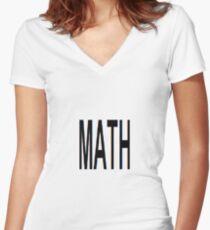 Math, Mathematics, Science, #Math, #Mathematics, #Science Women's Fitted V-Neck T-Shirt