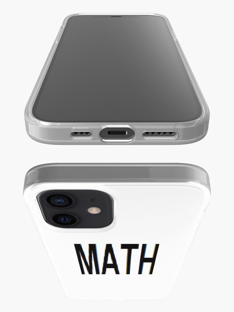 Alternate view of Math, Mathematics, Science, #Math, #Mathematics, #Science iPhone Case