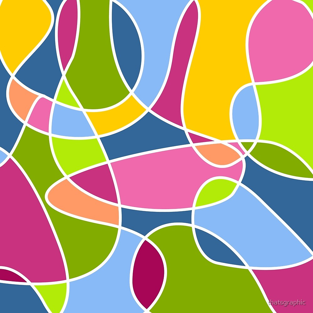 Ultra cool bold and bright scribble pattern by thatsgraphic