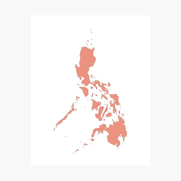 Philippines Love in Peach Photographic Print
