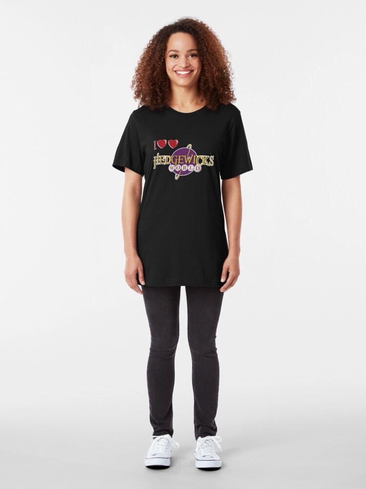 Alternate view of Love Love Hedgewick's World Slim Fit T-Shirt