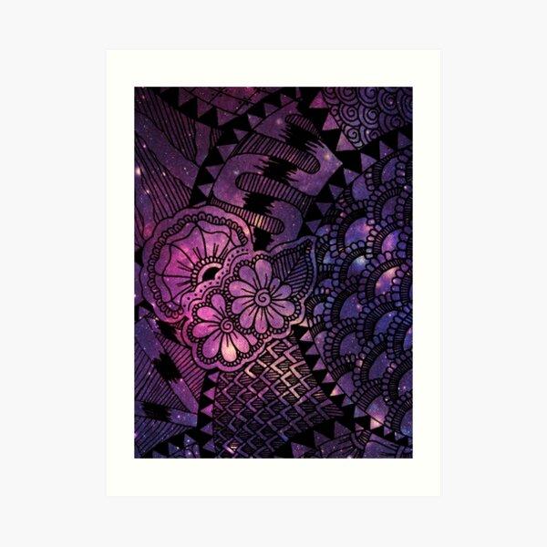 Space Floral Art Print