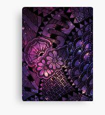 Space Floral Canvas Print