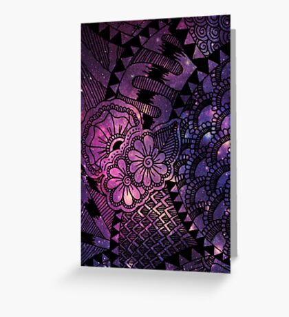 Space Floral Greeting Card