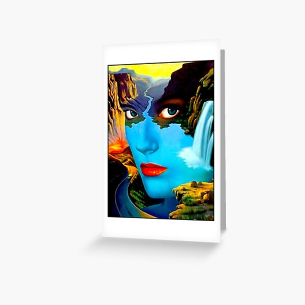STRESS : Vintage Surreal Abstract Psychedelic Print Greeting Card
