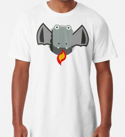 Cute Dragon Grey Long T-Shirt