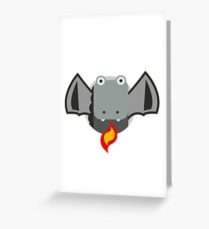 Cute Dragon Grey Greeting Card