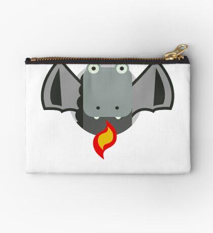 Cute Dragon Grey Zipper Pouch