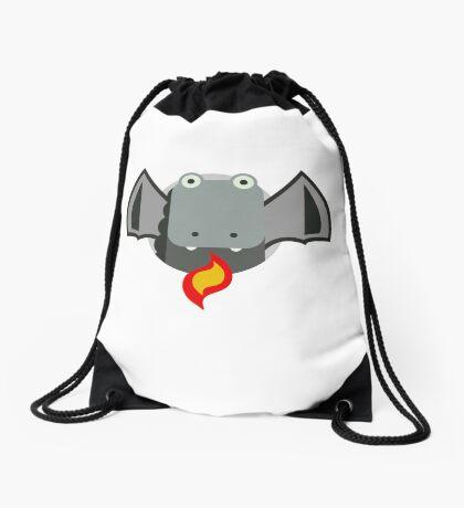 Cute Dragon Grey Drawstring Bag