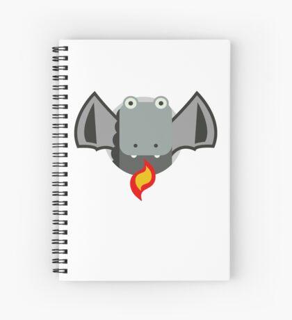 Cute Dragon Grey Spiral Notebook