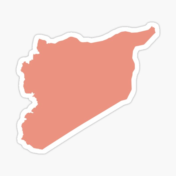 Syria Love in Peach Sticker
