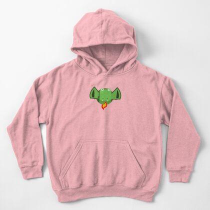Cute Dragon Green Kids Pullover Hoodie