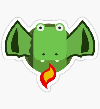 Cute Dragon Green Sticker