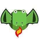 Cute Dragon Green by wikirascals