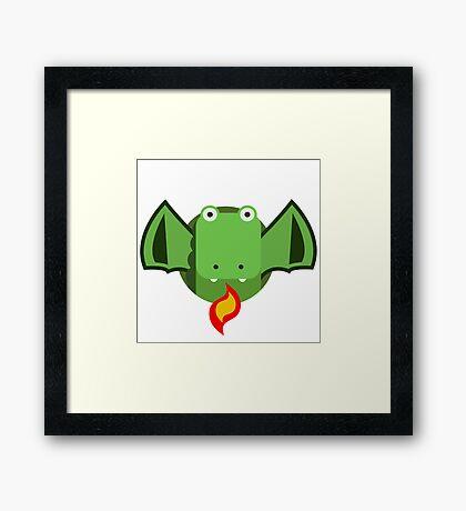 Cute Dragon Green Framed Print