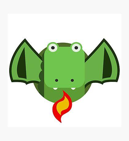Cute Dragon Green Photographic Print