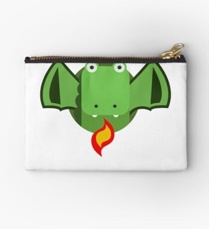 Cute Dragon Green Zipper Pouch
