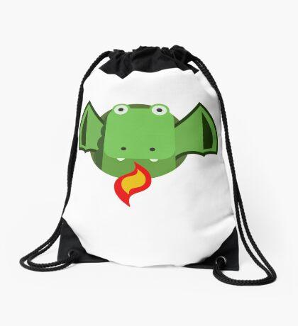 Cute Dragon Green Drawstring Bag