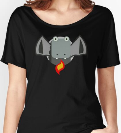 Cute Dragon Grey Relaxed Fit T-Shirt