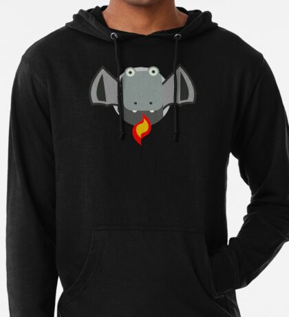 Cute Dragon Grey Lightweight Hoodie