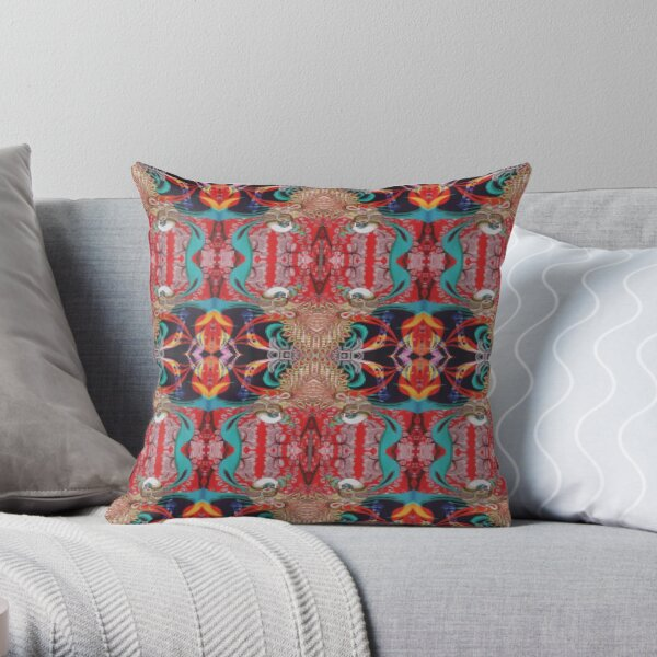 Pattern, design, tracery, weave, drawing, figure, picture, illustration Throw Pillow