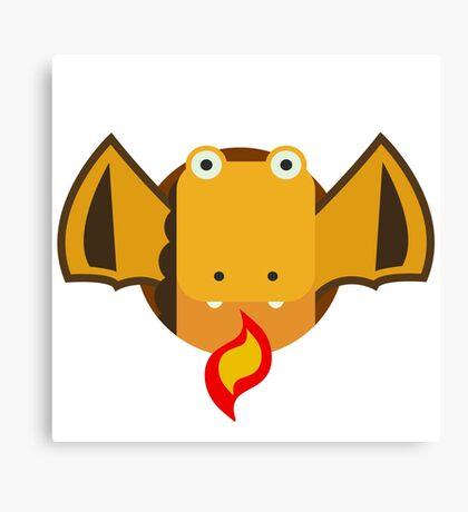 Cute Dragon Orange Canvas Print