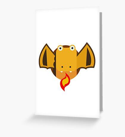 Cute Dragon Orange Greeting Card
