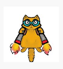 jetpack cat Photographic Print