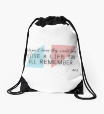 A tribute to AVICII (quote) Drawstring Bag