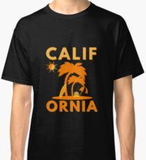 Orange Sunny California Beach Scene (Design Day 111) Classic T-Shirt