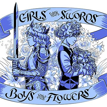 Girls with Swords, Boys with Flowers - Graphic version by heidiblack