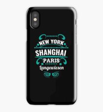 Langewiesen - Our city is not a Weltmertopole but you should. iPhone Case/Skin