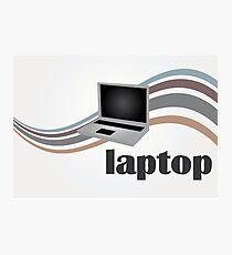 Laptop case, vintage Photographic Print