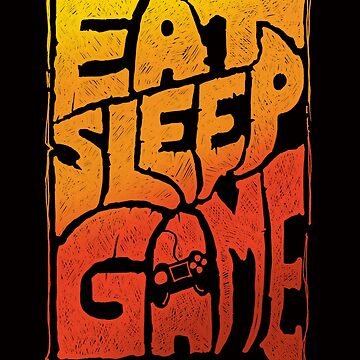 Eat sleep game tshirt with a cool graphic approach - fun video gamer gift idea by GameOnGifts