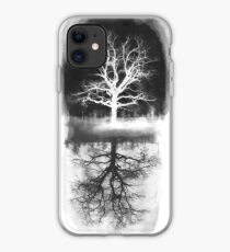 black tree - tree white  iPhone Case