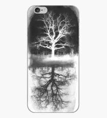 Vinilo o funda para iPhone árbol negro - árbol blanco
