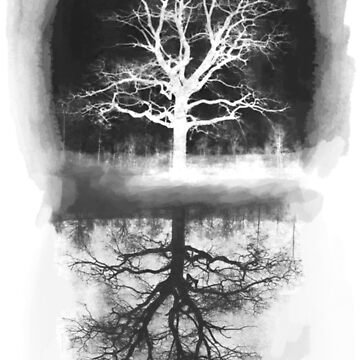 black tree - tree white  by Prepress