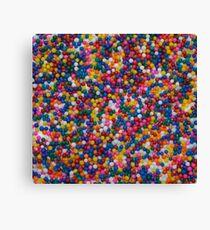 Rainbow colored sprinkles Canvas Print