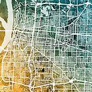 Memphis Tennessee City Map by Michael Tompsett