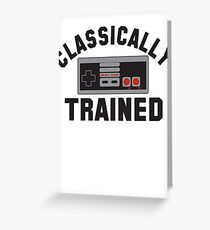 Classically Trained Nintendo T-Shirt Greeting Card