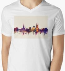 Bath England Skyline Cityscape Men's V-Neck T-Shirt
