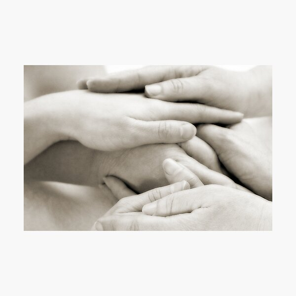 Hands: Togetherness Photographic Print