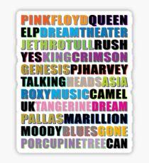 ART ROCK / PROGRESSIVE ROCK BAND #color Sticker