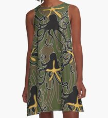 Octopus Camouflage A-Line Dress