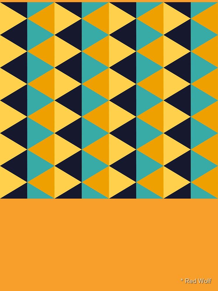 Geometric Pattern: Split Diamond: Blue/Yellow by redwolfoz