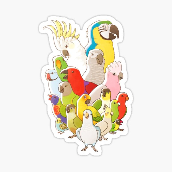 Parrot Party Sticker