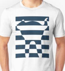 Stripped blue cat Unisex T-Shirt