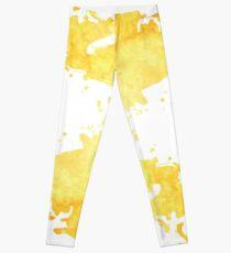 Yellow Watercolor Leggings