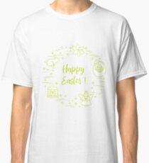 Easter cake, basket, eggs, rabbit, flowers, angel. Classic T-Shirt